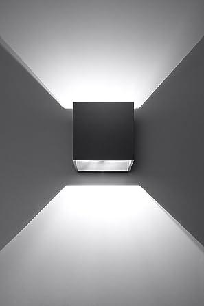 K-Bright 12W Moderne LED Schwarz Aluminiumgehäuse Wandleuchte mit ...