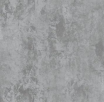 2553e42ad Papel de Parede Vinílico Cimento Queimado Bobinex Uau Cinza Escuro ...