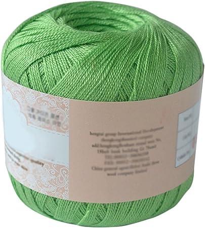gloryhonor Cable de algodón mercerizado hilo bordado de hilo para tejer Crochet encaje joyería, algodón, 06, talla única: Amazon.es: Hogar