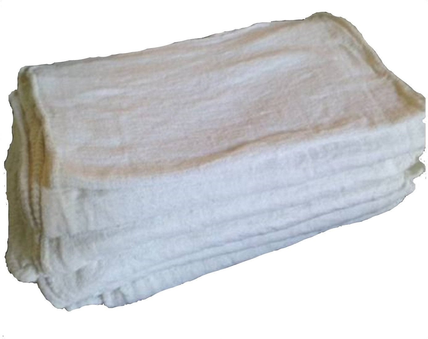 1000PC NEW INDUSTRIAL SHOP RAGS CLEANING TOWELS WHITE 13''x14'' GA TOWEL PREMIUM TKT-11