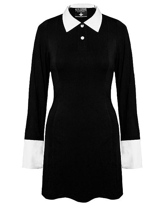 finest selection 85f58 c75d3 Kill Star, abito nero con colletto bianco e manica lunga ...