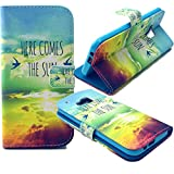 M9 Case, Jenny Shop M9 (Hima) Wallet Case, Anti Scratch [Love Gift] Sparkle