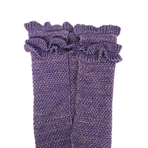 Mermaid Tail Blanket, Amyhomie Mermaid Blanket Adult Mermaid Tail Blanket, Crotchet Kids Mermaid Tail Blanket for Girls (Kids, Purple)