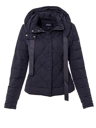 6a09ff4da41 Armani Jeans Femme Doudoune Courte Down Jacket 6Y5B08 5NAEZ XS (38) Bleu  Navy
