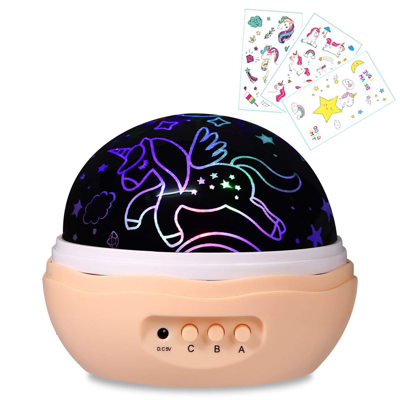 Geschenke für 1 -12 Jahre alt, Einhorn Projektor, Sterne Projektor ...