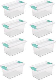 product image for Sterilite New Medium Clip Box Clear Storage Tote Container with Lid (8 Pack)