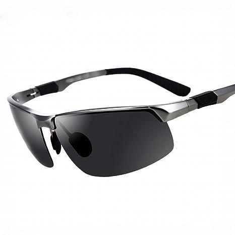 ZUTYJ Gafas de Sol Hombres Gafas Polarizadas Aluminio Magnesio Gafas de Sol Personalidad Hipster Conducción Al