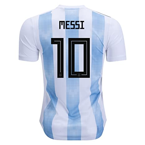 64cc38781 Image Unavailable. Image not available for. Color  Messi 10 Argentina  National soccer team home jersey ...