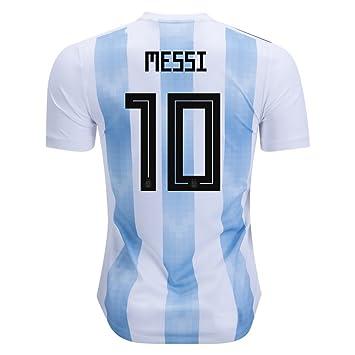 Messi 10 Argentina Camiseta hombres del equipo nacional de fútbol de 2018 de color blanco/