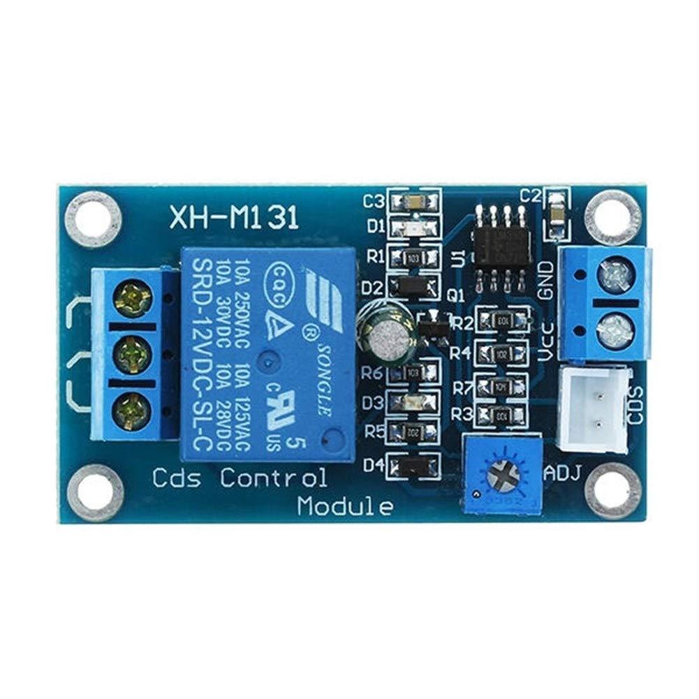 Module Relais Avec c/âble de sonde Luminosit/é de contr/ôle automatique Avec connexion invers/ée Fonction de protection Module de r/ésistance photosensible DC 12V Interrupteur de commande de lumi/ère Module