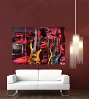 DRUMS GUITARS BASS GIANT WALL ART POSTER PRINT G589