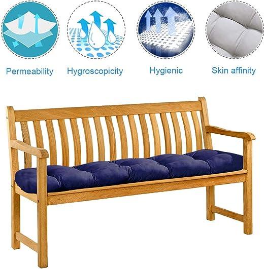 Bottlewise Cojín para banco, banqueta o balancín de 2 asientos, para jardín, terraza, balcón; cómodo, suave y grueso, 1, 5 x 0, 5 m, 1 x 0, 5 m: Amazon.es: Jardín
