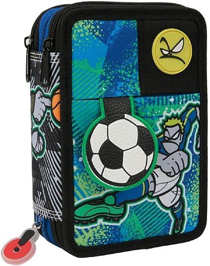 Estuche escolar Go Pop Sport 3 Zip completo bolso + llavero silbato + marcapáginas gratis + marcapáginas: Amazon.es: Oficina y papelería