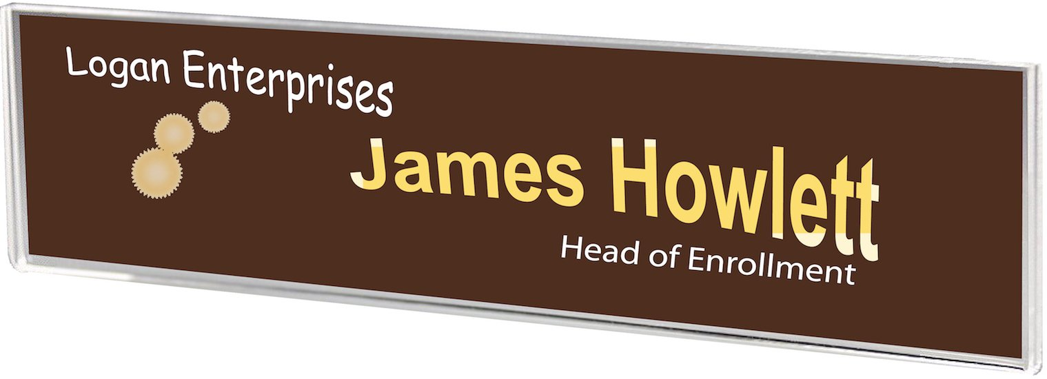 Plastic Products Mfg Wall Mount Name Plate Holder 8-1/2''wide x 2-1/4'' high - NPW085022 (40 Pack)