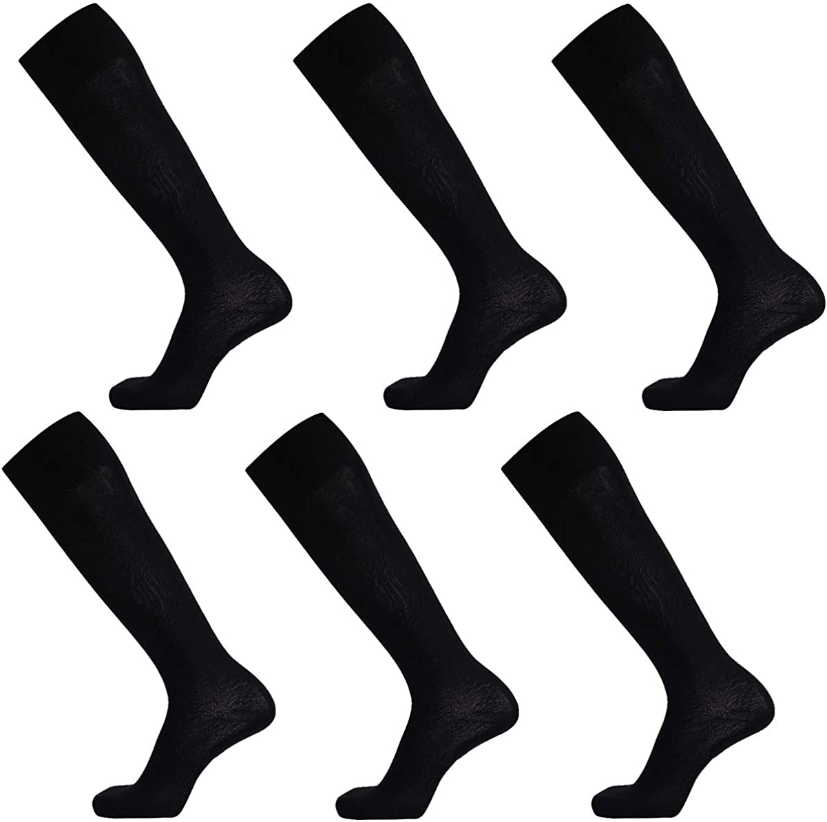 Dsource Unisex Soccer Socks Knee High Solid Baseball Football Sports Team Socks 2,6,10 Pairs: Clothing