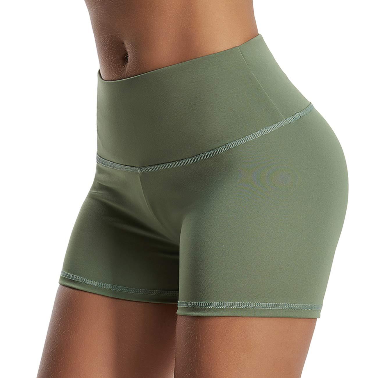 Stil 02Dunkelgreen L INSTINNCT Damen Kurze Trainingshose Sporthose Kurze Hose Sport Fitness Jogginghose Shorts