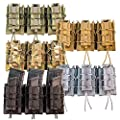 High Speed Gear MOLLE Double Decker TACO Shingle, 3 Rifle/Pistol Mag Pouches
