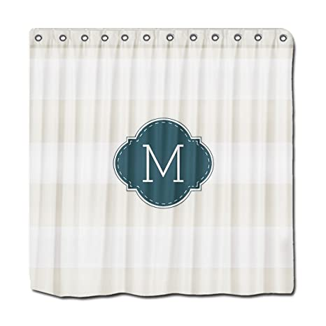 Image Unavailable Not Available For Color YYT Personalized Shower Curtains Elegant Ivory And White