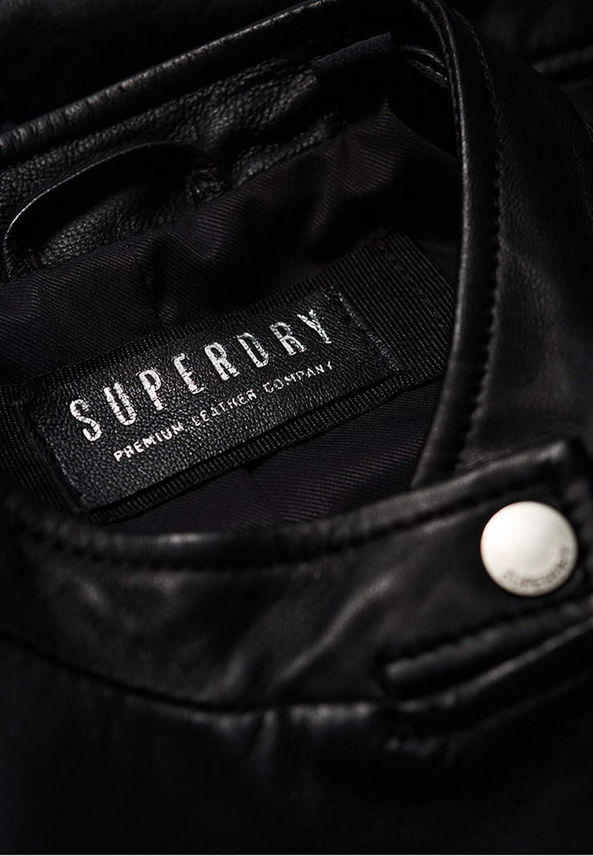 Superdry Veste Lyla Noir Cuir Noir Femme Noir