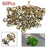 SummerHome Fuel Line Pipe Tube Hose Clips Clamps, 60pcs,0.23''-0.59''
