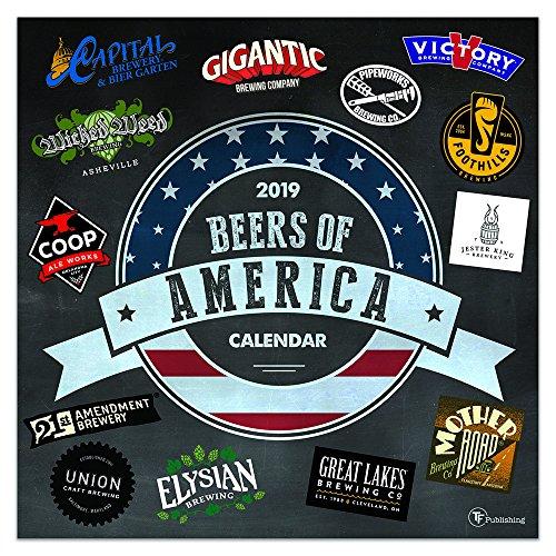 2019 Beers of America Wall Calendar
