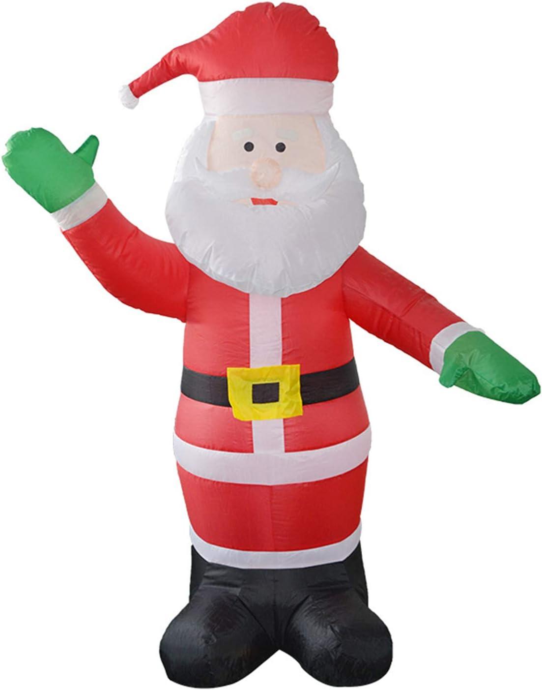 LOVEPET Santa Claus Modelo Inflable Navidad Grandes Apoyos ...