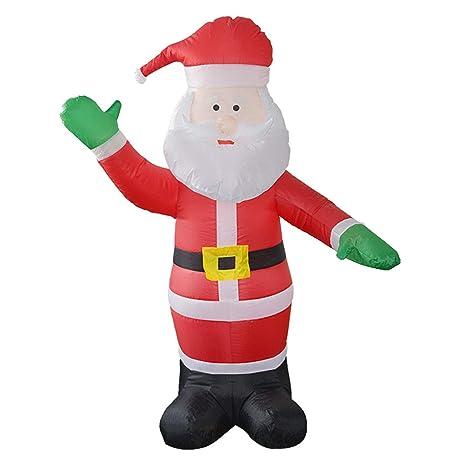 LOVEPET Santa Claus Modelo Inflable Navidad Grandes Apoyos Decorativos Navidad Abuelo Arcos Inflables Courtyard Mall Hotel