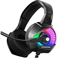 Onikuma K6_RGB 6 LED colors changeable PC Gaming Headset with Stereo Surround Sound, Noise-Canceling Microphone, K6 RGB…