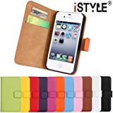 CATOE Luxury Genuine Leather Wallet Folio Stand Flip Case with Card Slot for Apple iPhone 4/4S,iPhone 5/5S, iPhone 6/6 Plus,iPhone 5C High Quality Sport Gym (Black, Apple iPhone 4/4s)