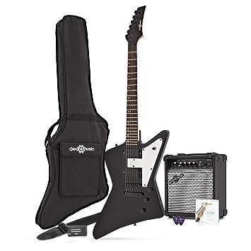 Guitarra Eléctrica Harlem Z + Pack Completo - Negro: Amazon.es: Instrumentos musicales