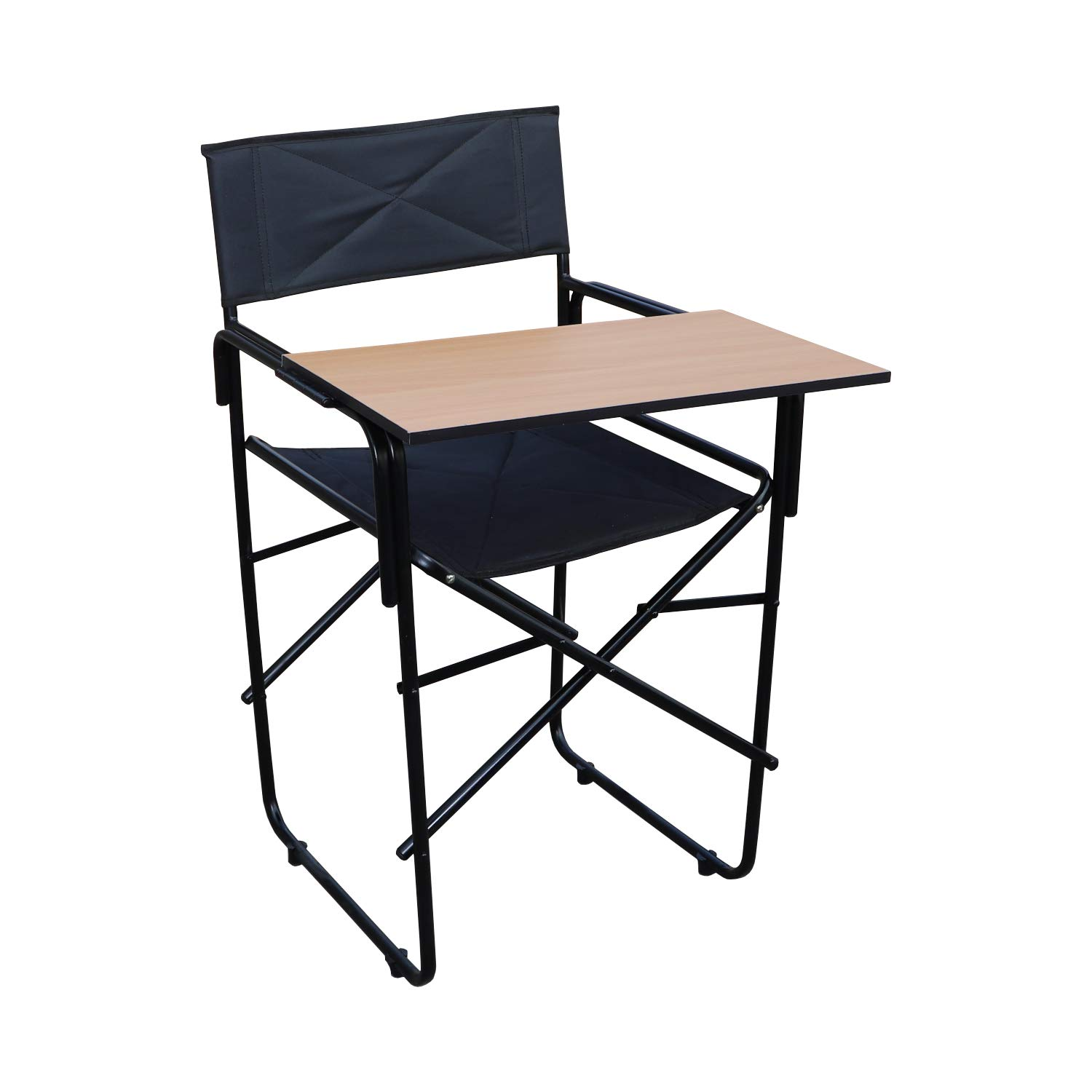 Spacecrafts Folding Study Chair with Writing pad (Standard, Black)