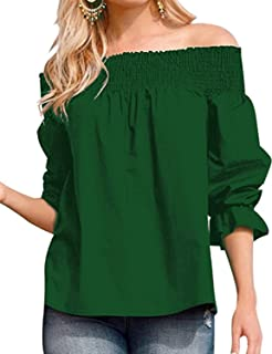337179b008aa34 Off Shoulder Tops, Toimoth Women Casual Boat Neck Long Sleeve Cold ...