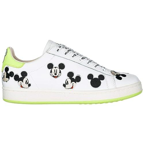 MOA Master of Arts Sneakers Disney Mickey Mouse Donna White Green   Amazon.it  Scarpe e borse 70942376c9e