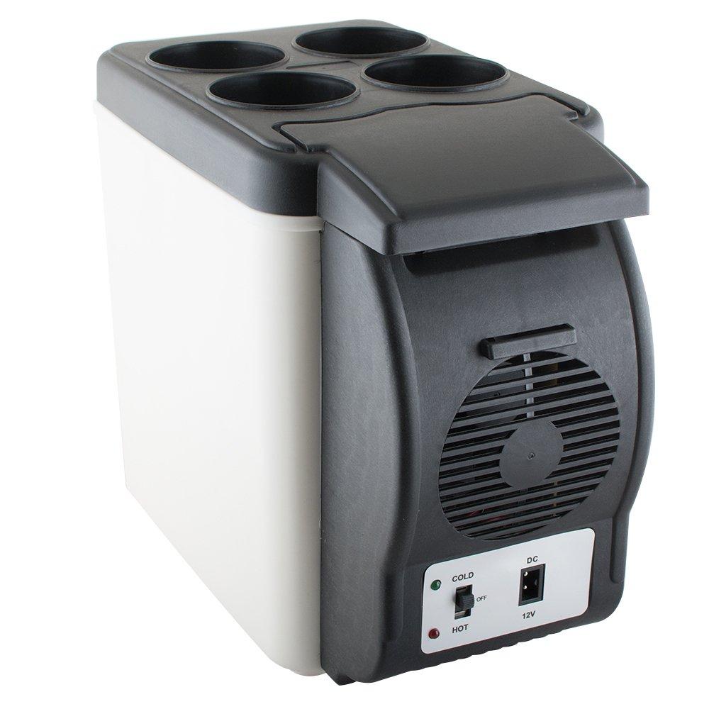 Portable Car Refrigerator Fridge Cooler Warmer Freezer 6L 12V for Car, Travel, Beach, Office, Truck Camping