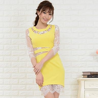 a06240fdf774c ドレス キャバドレス ミニドレス セール目玉商品 レターパック発送で レース切り替えセクシーミニ