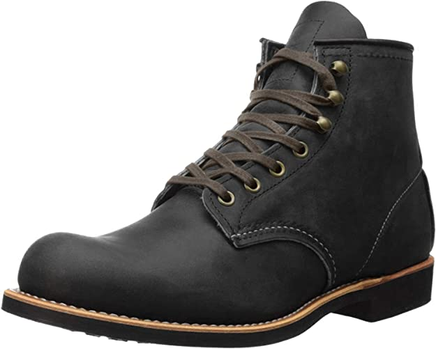 Steampunk Boots and Shoes for Men Red Wing Heritage Mens Blacksmith Vibram Boot $342.57 AT vintagedancer.com