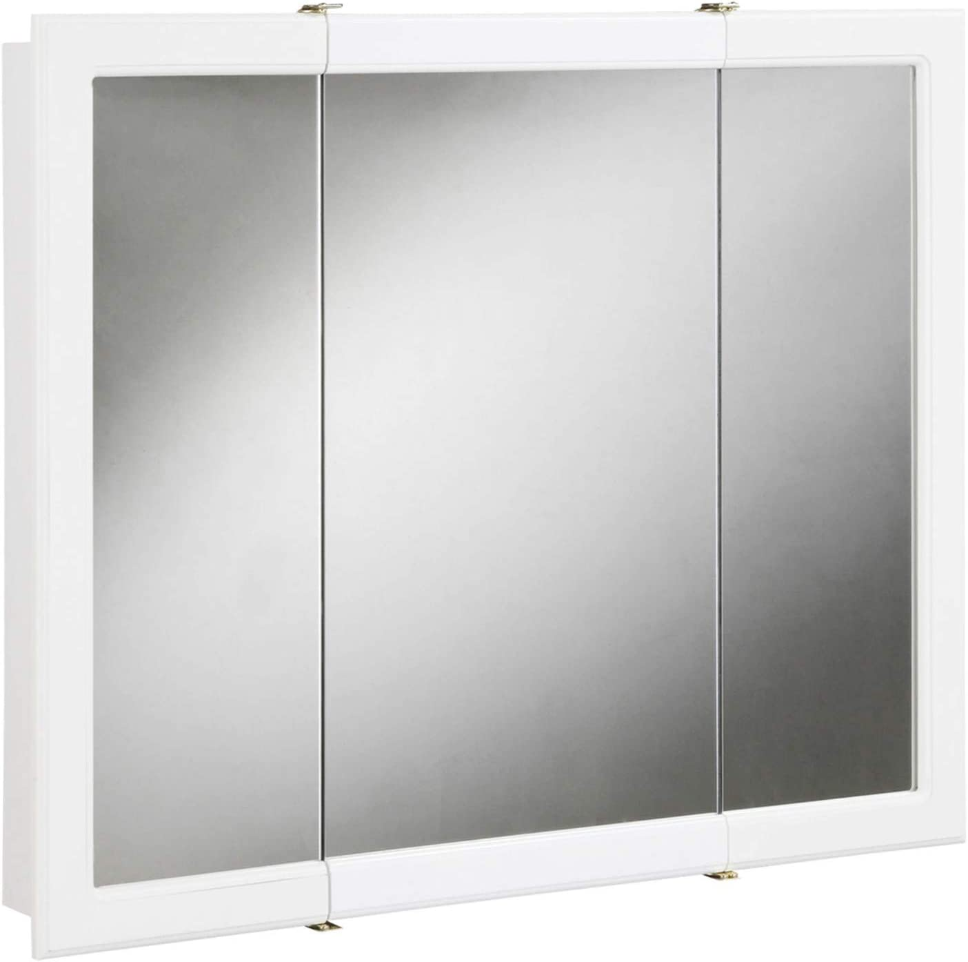 "Design House 531434 Concord Mirrored Medicine Cabinet, White, 30""x30"""