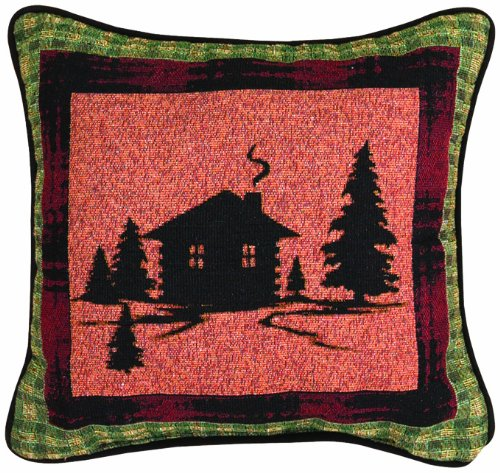 Manual The Lodge Collection Reversible Throw Pillow, 12.5 X 12.5-Inch, Bear Lodge Cabin - Bedroom Cabin