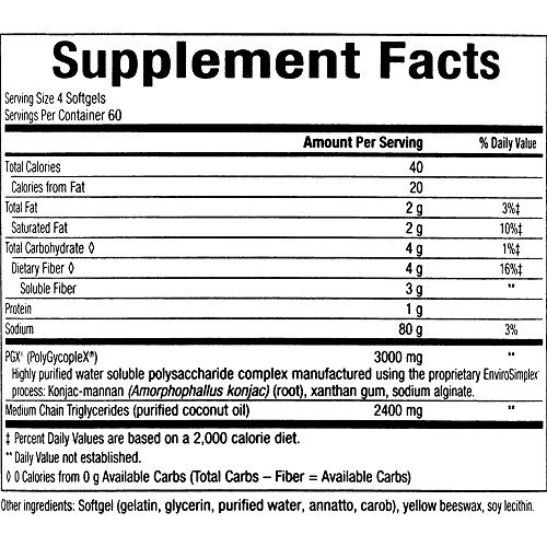 PGX by Natural Factors, Daily Ultra Matrix 750 mg, Helps Maintain Blood Sugar and Cholesterol Levels Already in The Normal Range, 240 softgels (80 Servings) (FFP)