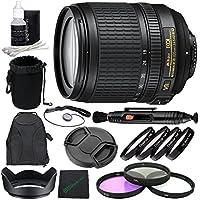 Nikon AF-S DX NIKKOR 18-105mm f/3.5-5.6G ED VR Lens + 67mm 3 Piece Filter Set (UV, CPL, FL) + 67mm +1 +2 +4 +10 Close-Up Macro Filter Set with Pouch + Lens Cap + Lens Hood + Lens Cleaning Pen Bundle