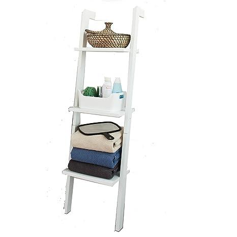 SoBuy FRG32-W,Estanterias librerias,Estanterias de diseño,Estantería de Pared,Blanco,3 estantes,ES