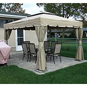 Montego Bay 10 x 12 Gazebo Replacement Canopy and Netting