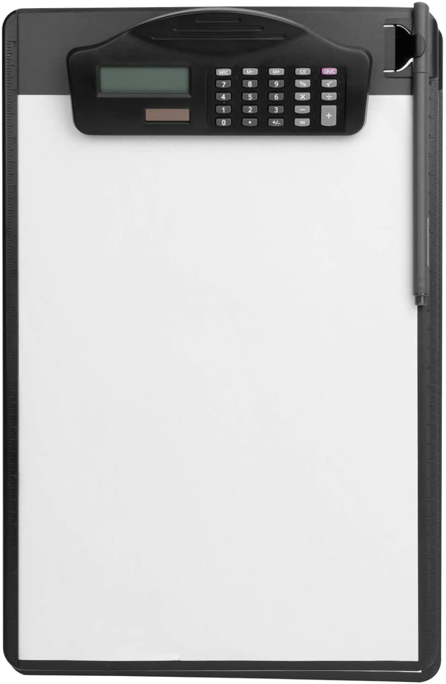 Multifunctional Clipboard with Calculator Plastic Storage Clipboard Pen Clip Writing Pad File Folders Business Office Document Holder A4 Letter Size Clipboard for School Meeting Classes