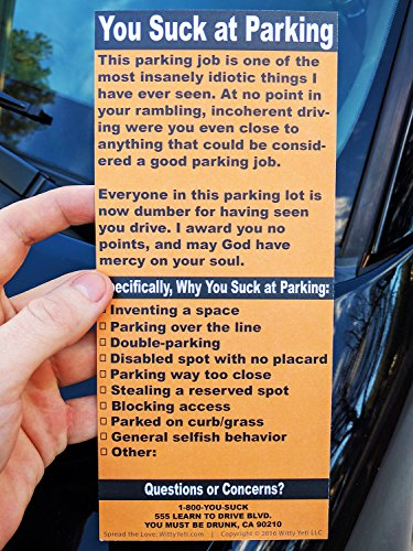 Full size fake parking ticket by witty yeti 20 pack both realistic adult pranks altavistaventures Images