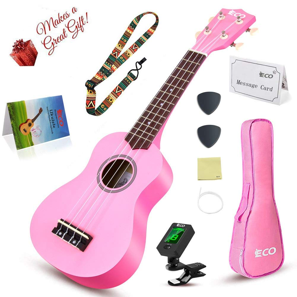 Learn to Play Ukulele Soprano Starter Kit- Includes Tuner App, Strap and Songbook