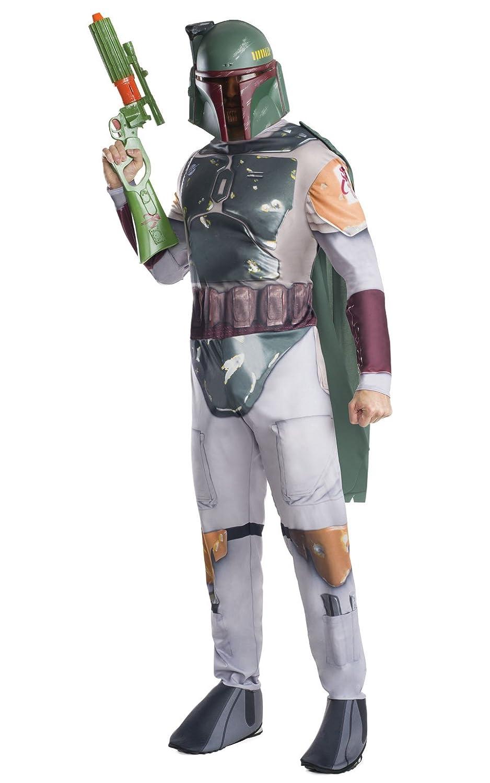 Clásico disfraz oficial Star Wars Boba Feto de Reubicar, para adulto, XL