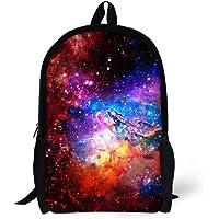 School Backpack For Kids Colorful Pretty Girls Galaxy Printing School Bag