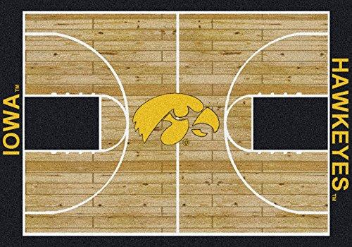 American Floor Mats Iowa Hawkeyes NCAA College Home Court Team Area Rug 3'10