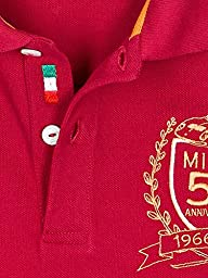 Automobili Lamborghini Mens Miura 50th Anniversary Polo Shirt L Red