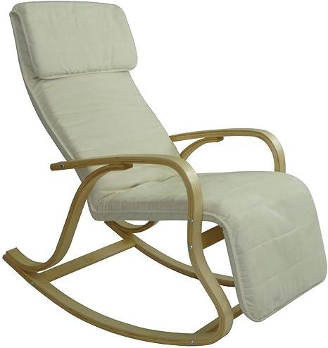 D/ép/ôt515 Rocking-chair multipositions Alex II Alcantara Cr/ème